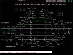 Pohled na monitor ovládacího počítače